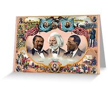 Heroes of the colored race Poster 1881 Restored Greeting Card