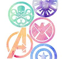 Marvel Insignias by tahliarosemarie