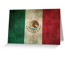 Old and Worn Distressed Vintage Flag of Mexico Greeting Card