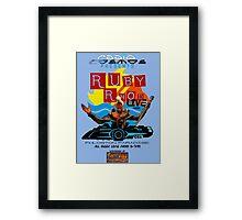 Ruby Rhod LIVE! Framed Print