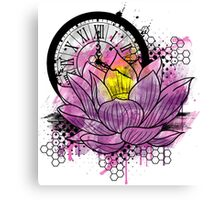 A Tranquil Time - Abstract Lotus Canvas Print