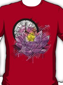 A Tranquil Time - Abstract Lotus T-Shirt