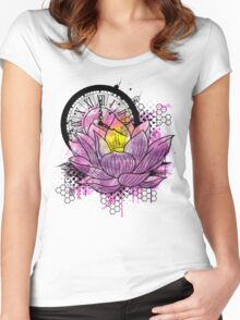 A Tranquil Time - Abstract Lotus Women's Fitted Scoop T-Shirt