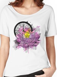 A Tranquil Time - Abstract Lotus Women's Relaxed Fit T-Shirt