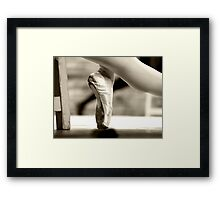 Ballerina foot Framed Print