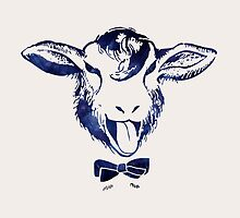 Cheeky sheep with a bow tie by artemiostudio