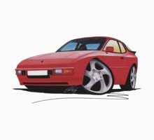 Porsche 944 Red One Piece - Long Sleeve