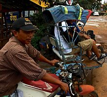 Exceptional Transportation - Pakse, Laos. by Tiffany Lenoir