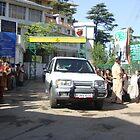 Dalai Lama on his way by Ravs