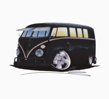 VW Splitty (11 Window) F (Black) by Richard Yeomans