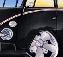 VW Splitty (11 Window) F (Black) Sticker