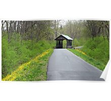 Springtime on the Covered Bridge Trail Poster