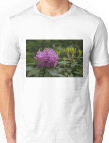 Bright Pink Azalea, Gently Swaying in the Rain  Unisex T-Shirt