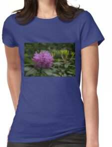 Bright Pink Azalea, Gently Swaying in the Rain  Womens Fitted T-Shirt