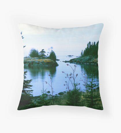Sweetgrass Cove, Northern Minnesota Throw Pillow