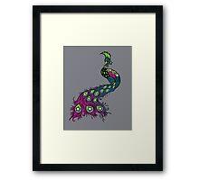 Punk Peacock Framed Print