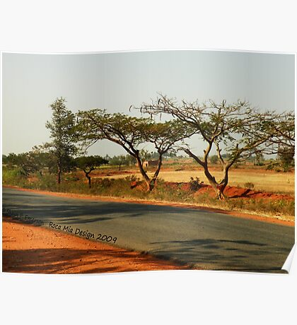 India Highway (with Tamarind Trees) Poster
