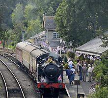 Cranmore station, Somerset, England, UK, by buttonpresser