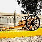 6 Inch British WWI Howitzer in Iraq by Charles Buchanan