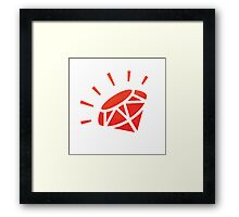 Ruby - Art of Simplicty Framed Print
