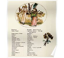 Language of Flowers Kate Greenaway 1884 0030 Descriptions of Specific Flower Significations Poster