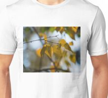 Dreamy Yellow Leaves Swaying in the Wind  Unisex T-Shirt