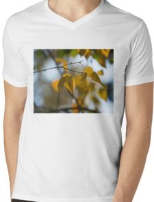 Dreamy Yellow Leaves Swaying in the Wind  Mens V-Neck T-Shirt