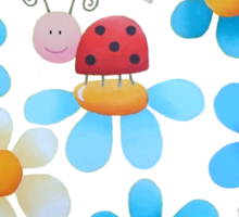 Flowers and ladybugs Sticker