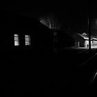 Dark street -  Waiting For The Tram by Nicoras Calin