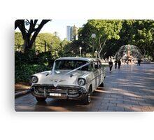 1957 Chevrolet Limousine, Hyde Park, Sydney, Australia 2012 Canvas Print