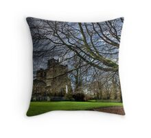 Big Tree in Ashby Castle Throw Pillow