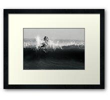 Surf Play Framed Print