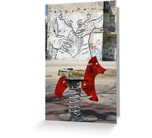 Introspective Grafitti, Marseilles, France 2012 Greeting Card