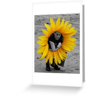 Human Sunflower Greeting Card