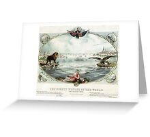 The Eighth wonder of the world Vintage Poster 1866 Restored Greeting Card