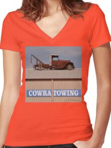 Rooftop Parking, Cowra, New South Wales, Australia 2013 Women's Fitted V-Neck T-Shirt