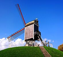 Sint-Janshuis Windmill, Bruges by Ludwig Wagner