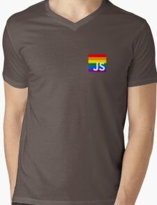 JavaScript Pride Mens V-Neck T-Shirt