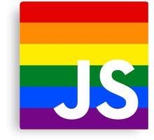 JavaScript Pride Canvas Print