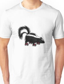 Skating Skunk Unisex T-Shirt