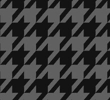 Black and Gray Houndstooth by Madelei