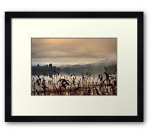 Mist and Reeds, Lake of Mentieth Framed Print