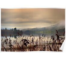 Mist and Reeds, Lake of Mentieth Poster