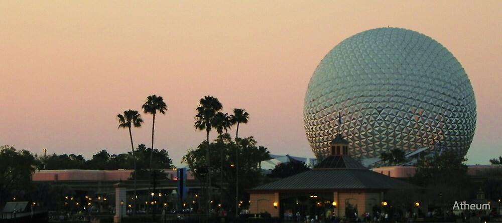 Sun Setting on Disney World by Atheum