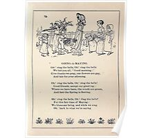 Miniature Under the Window Pictures & Rhymes for Children Kate Greenaway 1880 0025 Going a Maying Poster