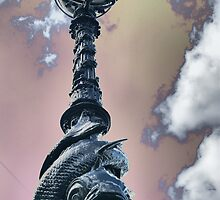 Thames River Lamp Post - HDR by Allen Lucas