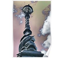 Thames River Lamp Post - HDR Poster