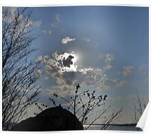 A Cloudy Sunset in Kennebunkport, Maine Poster