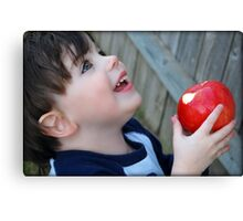 An apple a day...keeps the doctor away.... Canvas Print
