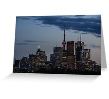 Toronto Skyline at Dusk Greeting Card